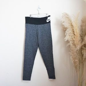 Nike stretchy heather blue workout leggings